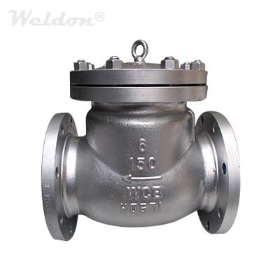 ASTM A216 WCB Swing Check Valve, API 6D, 6 Inch, 150 LB, BB, RF